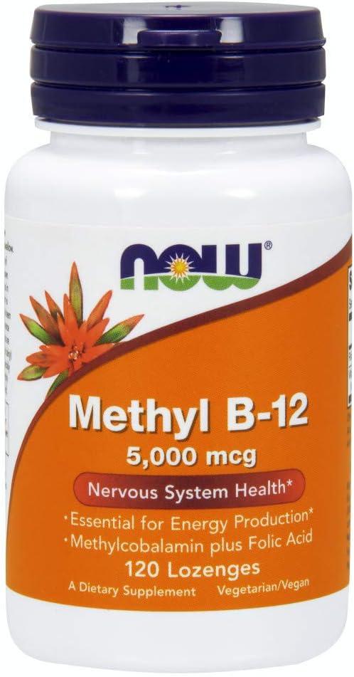 Now Supplements, Methyl B-12 5000 mcg, 120 Lozenges