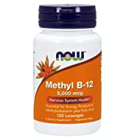 NOW Supplements, Methyl B-12 (Methylcobalamin) 5,000 mcg, Nervous System Health*...