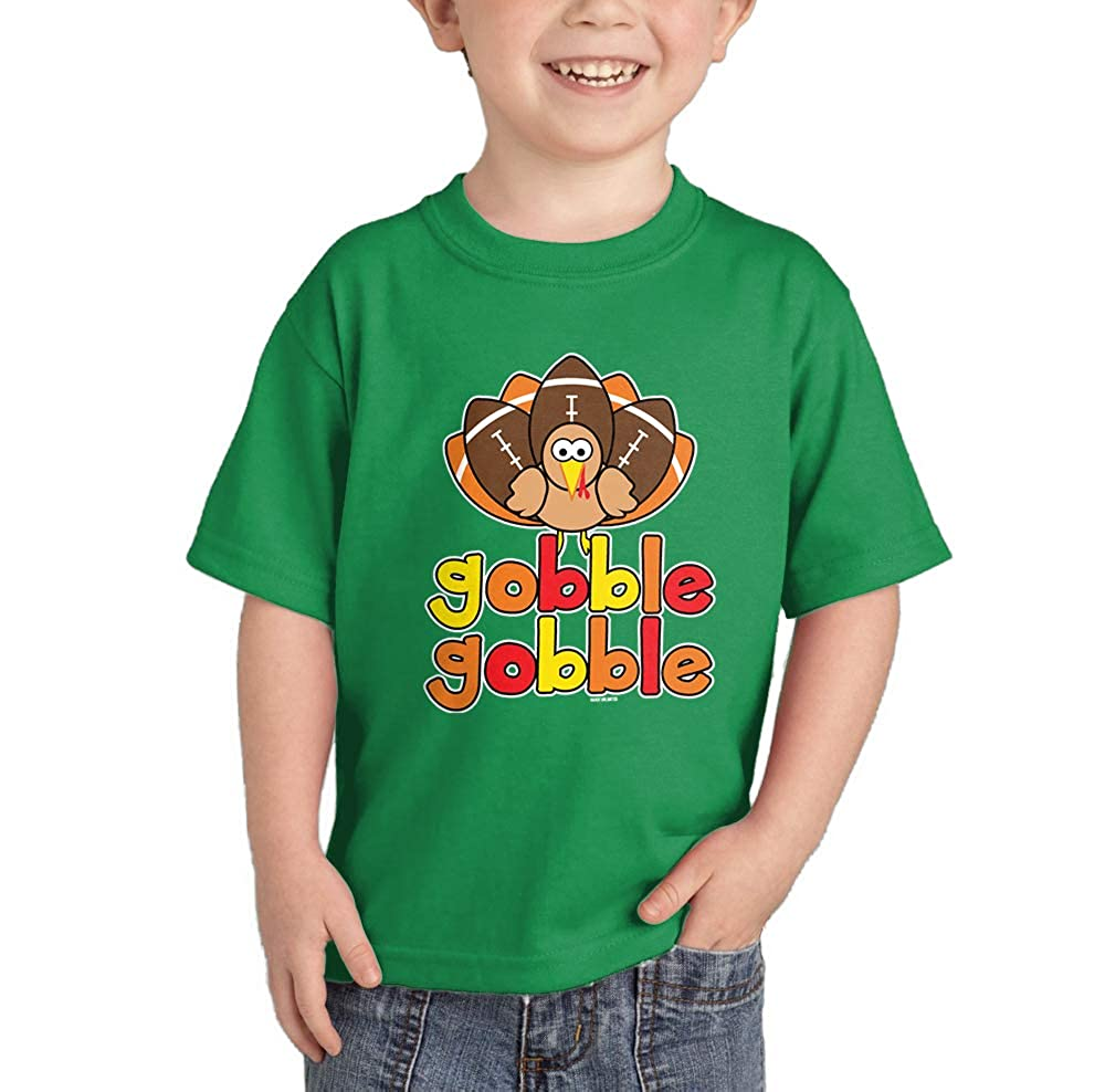 HAASE UNLIMITED Gobble Gobble Football Turkey T-Shirt CHILD_00194_CHILDTEE