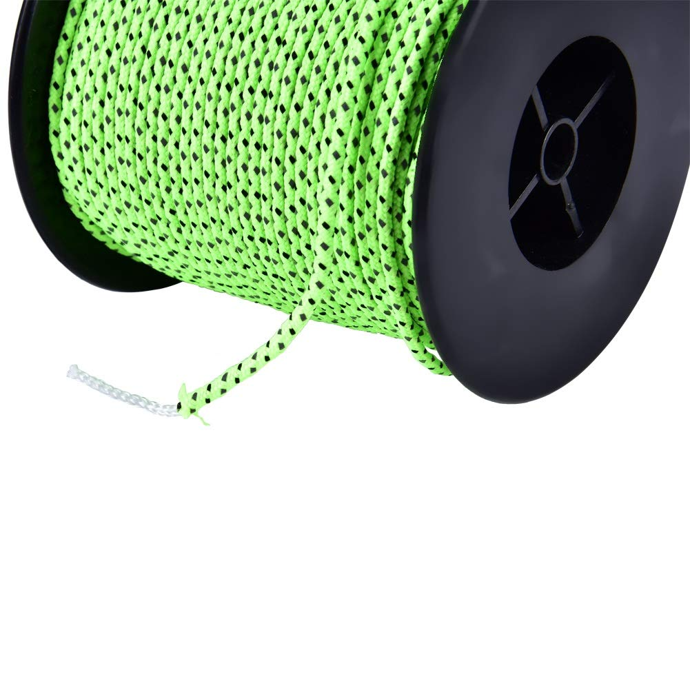 Outdoor Packaging Green Delaman Tent Rope 50m Reflective Polyester Cord Paracord Tent Guyline Rope for Camping Tent