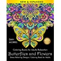 Coloring Books For Adults Relaxation Butterflies And Flowers Stress Relieving Designs Coloring Book For Adults Nature Coloring Books