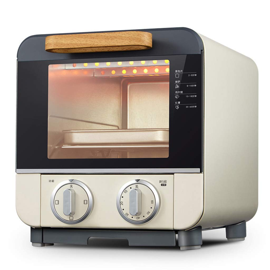 Mini Countertop Toaster Oven 60-Min Timer, Bake, Grill, Broil, Roast, Toast, Keep Warm, 9l Capacity Removable Crumb Tray