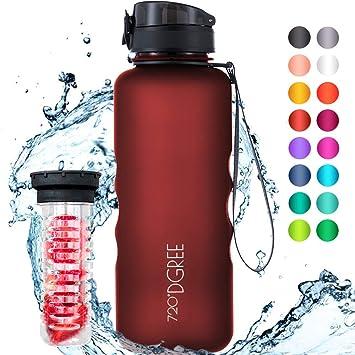 720°DGREE Botella de Agua uberBottle - 1,5 litros, 1500ml, Rojo ...