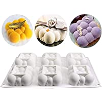 Silicone Mould for Chocolate 3D Bubbles Clouds 6 Cavities Square Baking Molds Cloud Mousse Cake Mold Dessert Cake Tin…