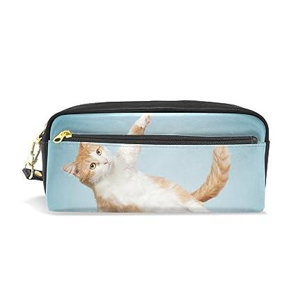 Estuche para lápices de yoga o gato, gran capacidad, con ...