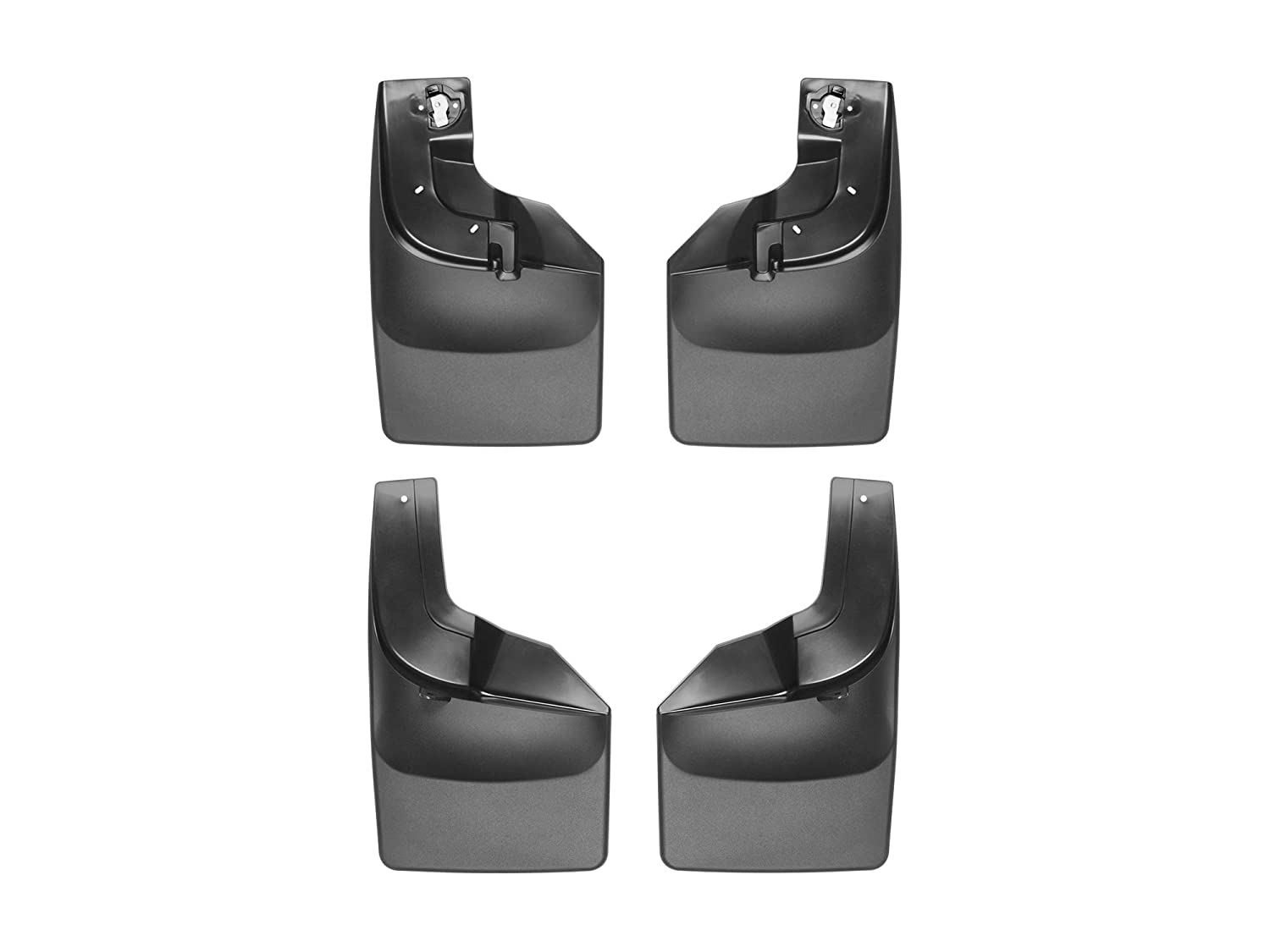 110066-120066 WeatherTech Custom MudFlaps for Ford Super Duty Front /& Rear Set Black