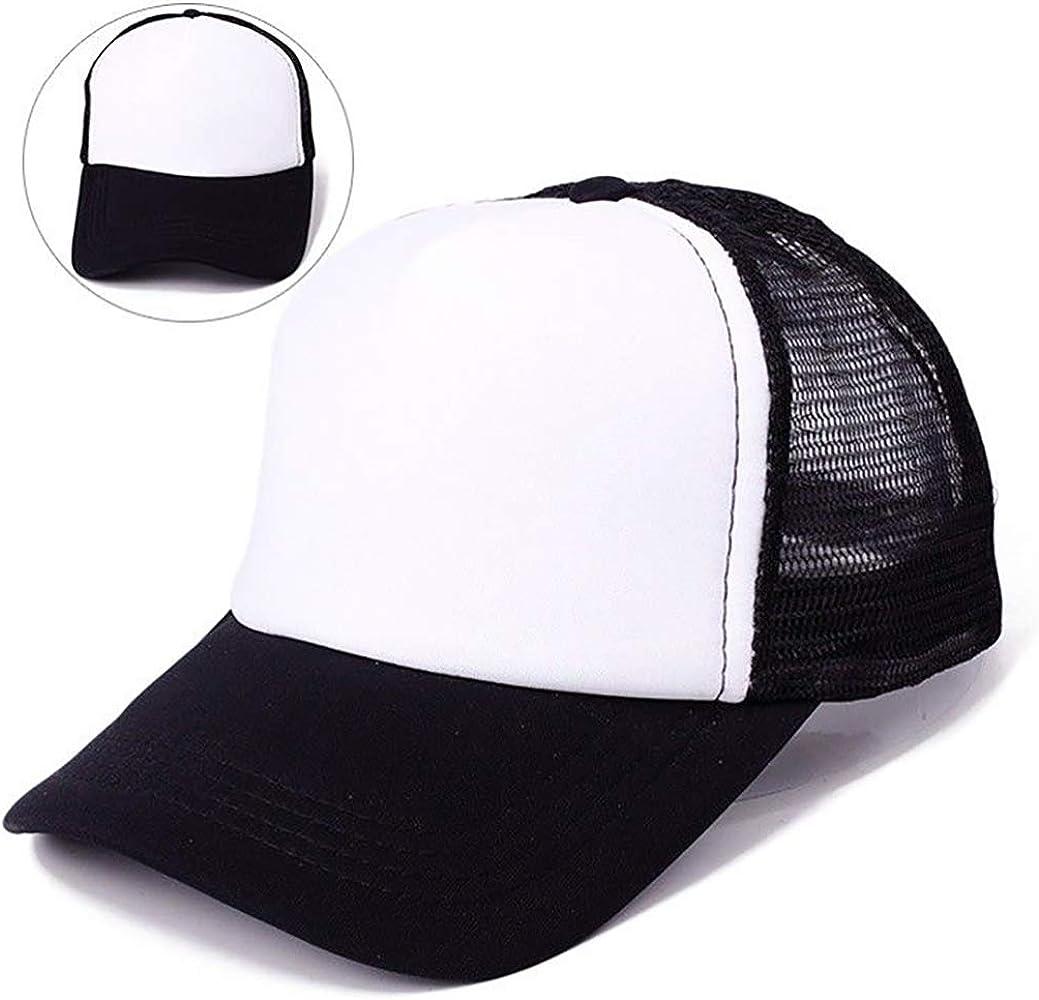 Off Duty Save Yourself Mesh Baseball Caps Girls Adjustable Trucker Hat Sky Blue