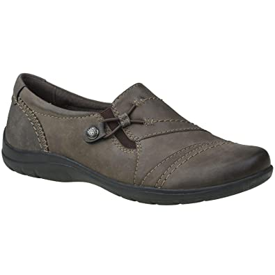 218dc6cc Earth Spirit Shumo Nevada Ladies Leather Casual Shoes Stone: Amazon ...