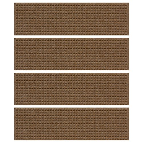 Recycled Stair Tread (Squares Stair Treads in Dark Brown - Qty 4)