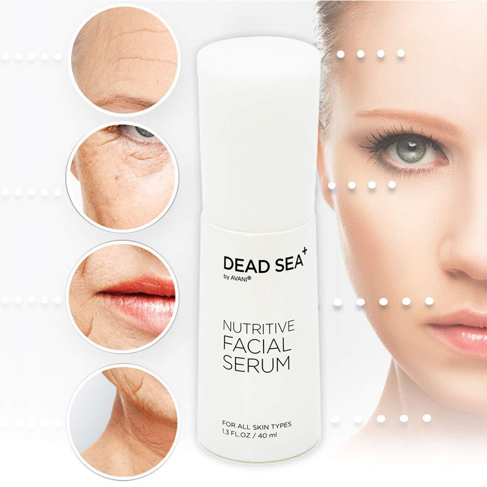 Vitamin C Serum Natural Facial - Dead Sea+ Nutritive Facial Serum by AVANI, 40ml