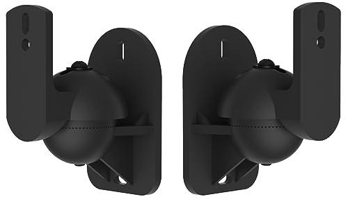 Techsol 4 Pack Of Black Universal Speaker Wall Mount