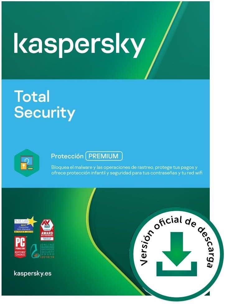 Kaspersky Total Security 2021   2 Dispositivos   1 Año