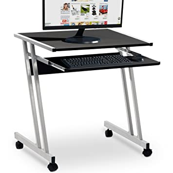 Deuba Schreibtisch Computertisch 4 Rollen Tasterturauszug