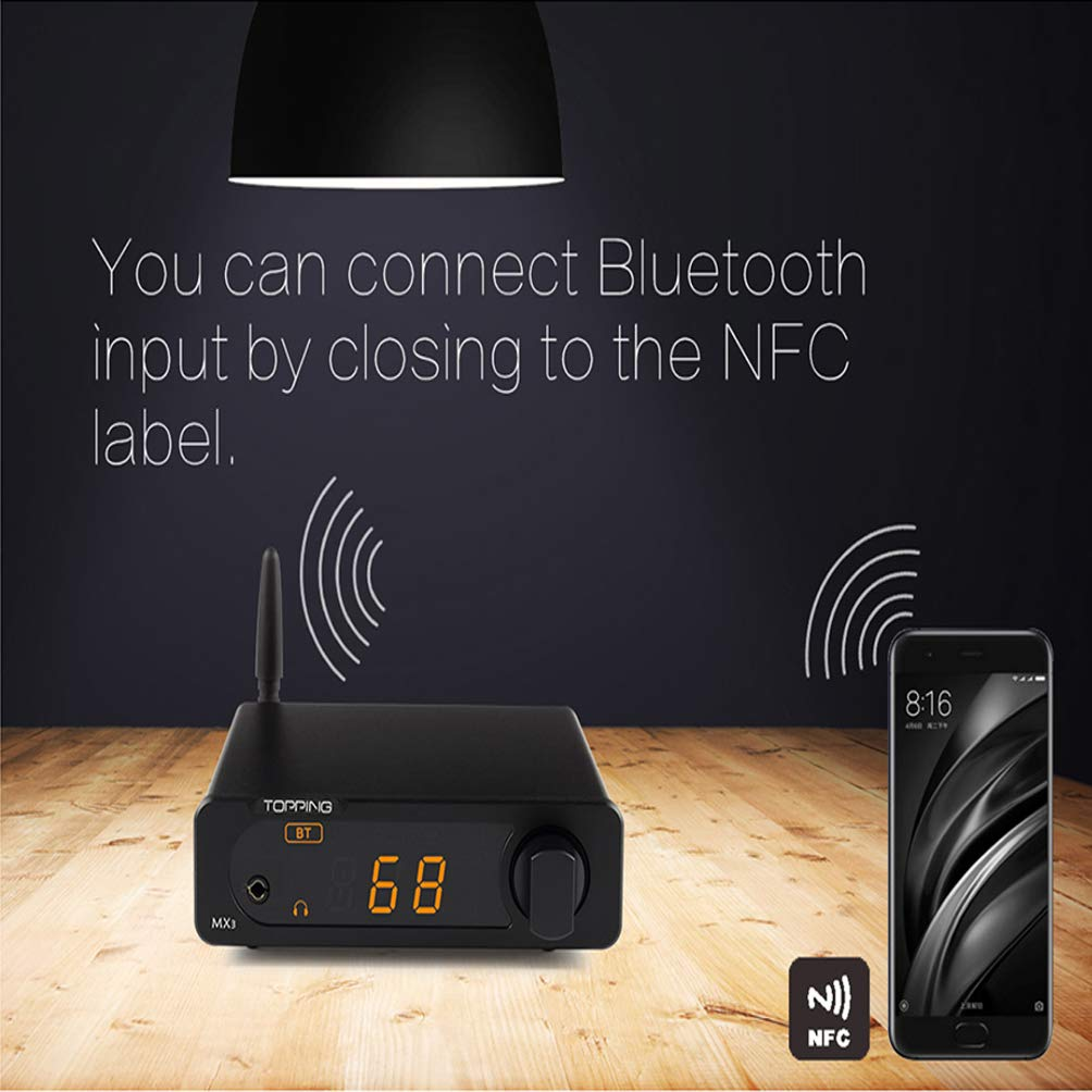 Topping MX3 Built-in Bluetooth Receiver DAC Headphome Amp Digital Amplifier (Black) by Topping (Image #5)