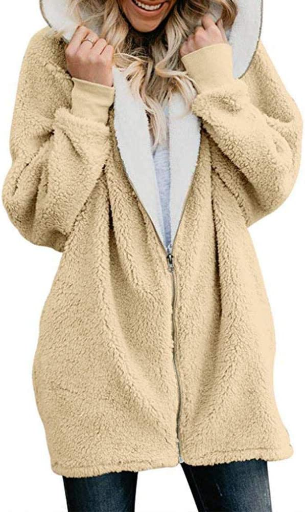 Abrigos Mujer Invierno, Cardigans Encapuchados de Gran tamaño ...