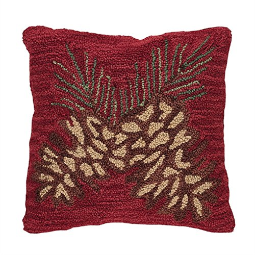 Park Designs 18 Inches Cotton Pinecone Hooked Polyester Fill