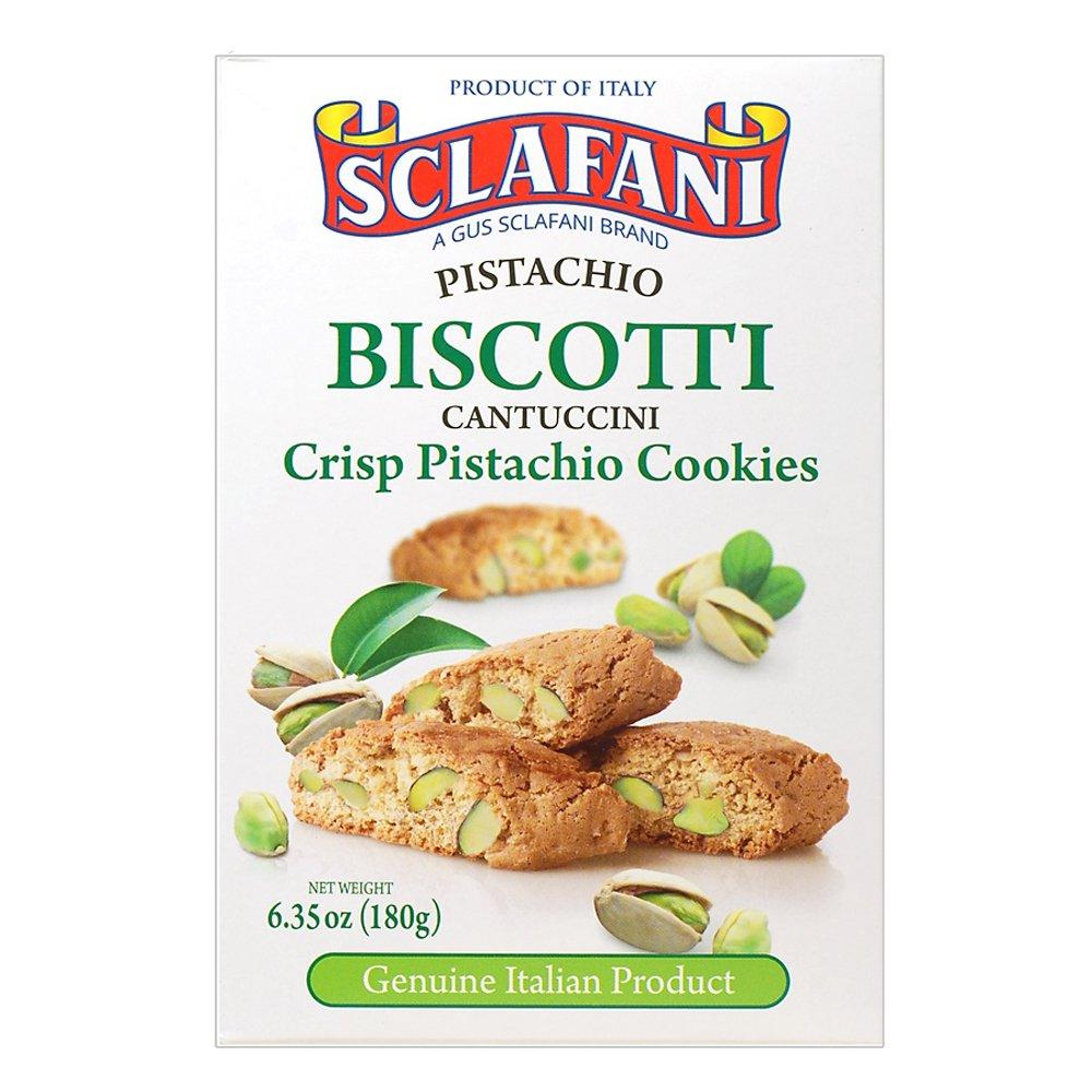 Biscotti Cookies 6.35 oz (180 grams) Boxes (12 Pistachio)