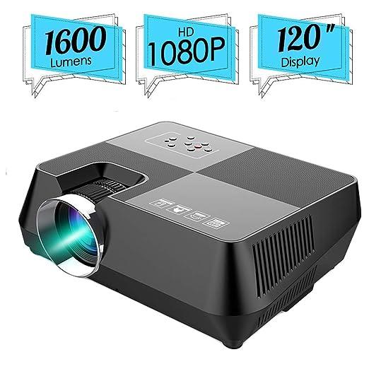 JIANG BREEZE HD Home Theater, proyector de Video portátil 1600 Lux ...