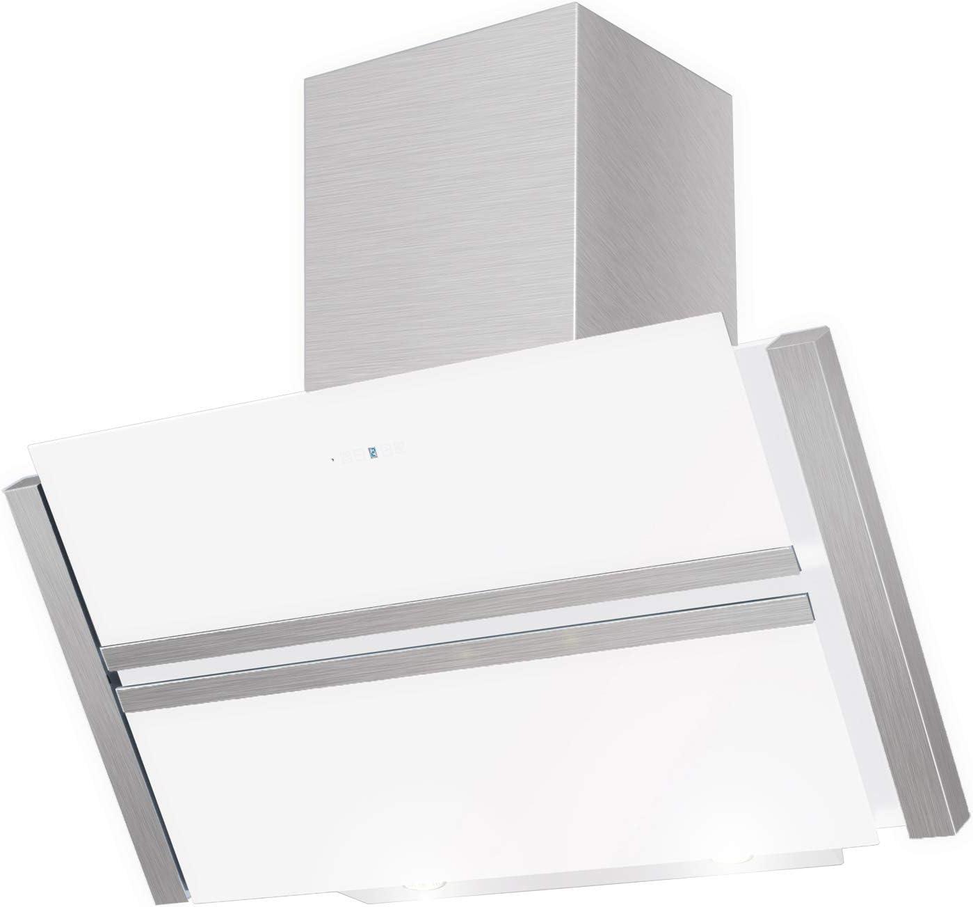 Maan campana Roxy blanco 75 cm. Cristal Blanco. LED. 815 M3/H. Extracción. Mando a distancia. 2 filtros de carbón libre. UE clase de eficiencia A.: Amazon.es: Grandes electrodomésticos