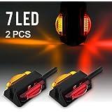 Partsam LED Trailer Fender Light Set - Dual Face LED Marker Clearance Lights Assembly