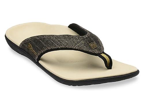 72360beeec1 Amazon.com  Spenco Sandal Women s Yumi Gold Canvas - Black Gold - Size (6)   Shoes