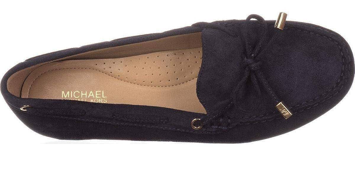 Amazon.com | Michael Michael Kors Sutton Moc Bow Moccasins - Size 6M - Admiral Blue | Shoes