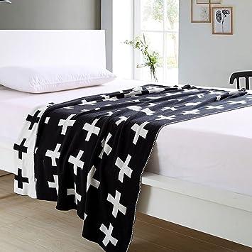 Schwarzweiss Schweizer Kreuz Muster Personalisierte Knitting Cotton