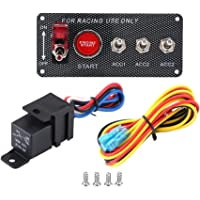Toggle Switch Panel Simple Design Racing Panel Convenient for Installation Reduce Impedance for Flash Lights Chassis…