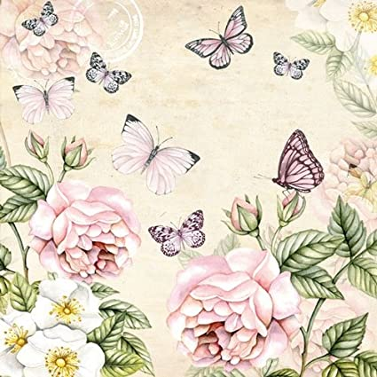 5 Napkins Kate Black 33 x 33cm Tissue Decoupage Paper Party Card Making Crafts