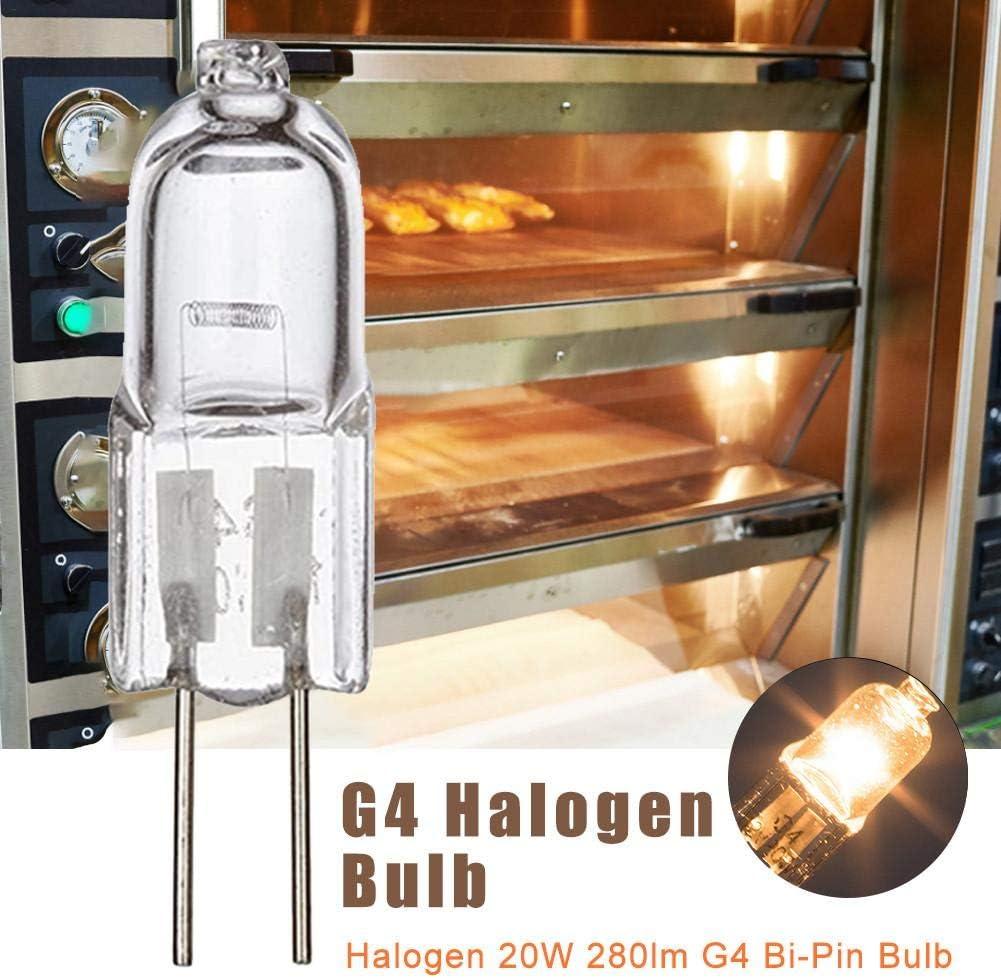 didatecar Ampoules Halog/ènes G4 20 W Ampoule R/ésistante /À La Chaleur De 500 Degr/és C pour Four Et Micro-Ondes Pack De 4