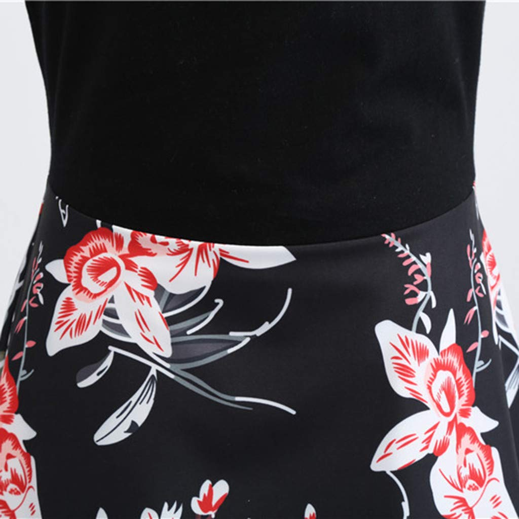 69a35fe9909a Lenfesh Damen Vintage 50er Jahre Retro Petticoat Kleider Gepunkte ...