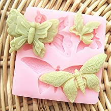 FVIEW Butterfly Silicone Fondant Cake Mold Soap Mold Chocolate Mould