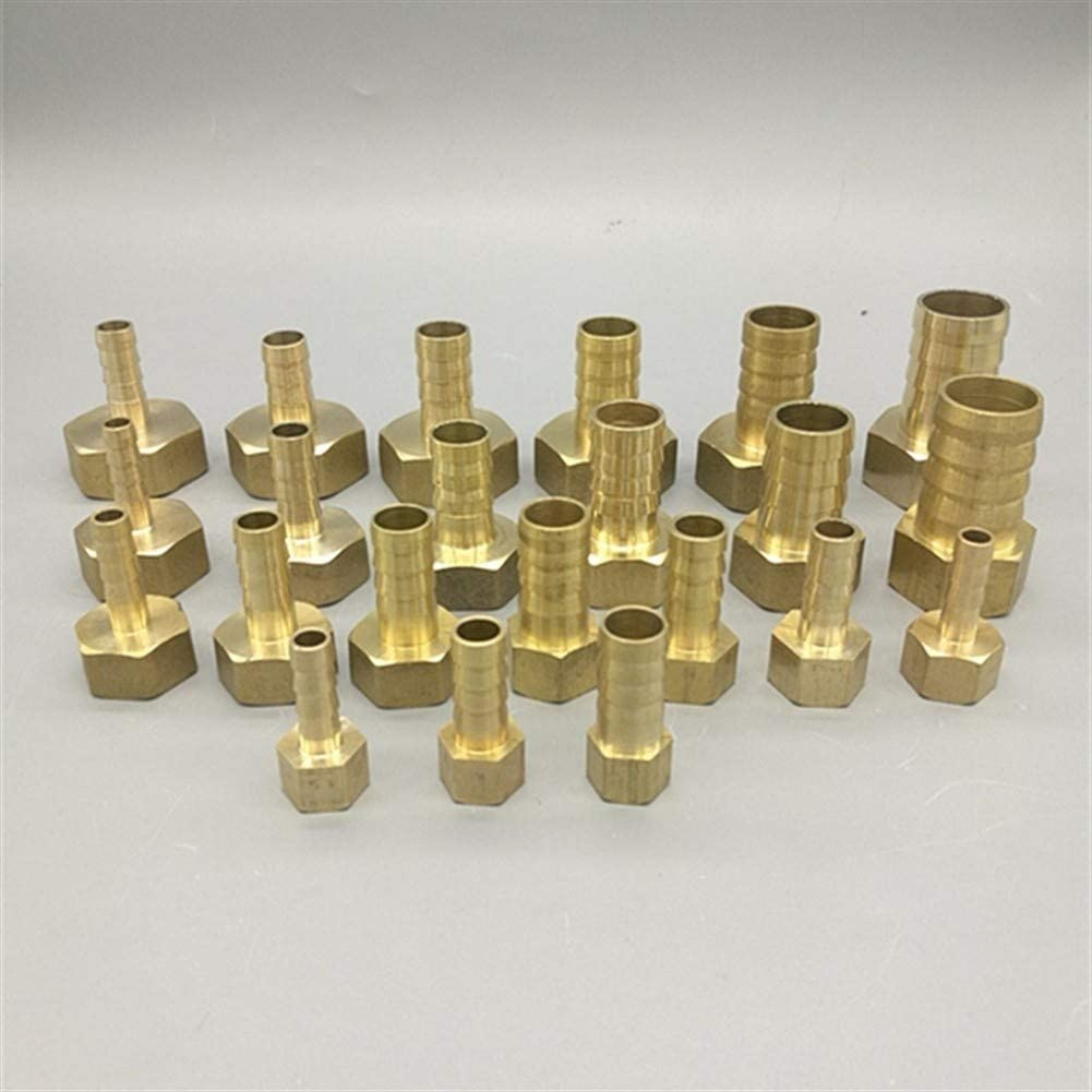 WSF-Adapters Color : 1//2, Size : 19mm Barb 1pc Brass Hose Fitting 4mm 6mm 8mm 10mm 19mm Barb Tail 1//8 1//4 1//2 3//8 BSP Female Thread Copper Connector Joint Coupler Adapter