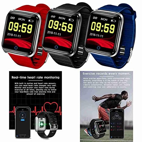 Amazon.com: Q19 Color Screen Heart Rate Blood Pressure ...