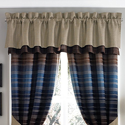 Croscill Stripes Curtain - Croscill Clairmont Curtain Valance