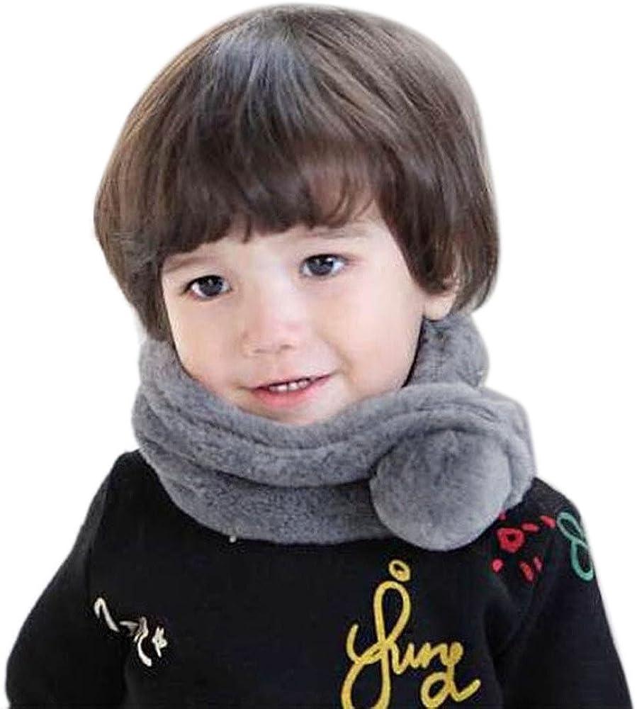 RETUROM Beb/é pa/ñuelos de cuello Oto/ño Invierno de lana de cuello redondo Mantener c/álidas bufandas para beb/és Ni/ñas