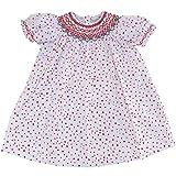 Girls Hand Smocked Dress (Baby) Red Polka Dot - Summer Dress (18 Months)