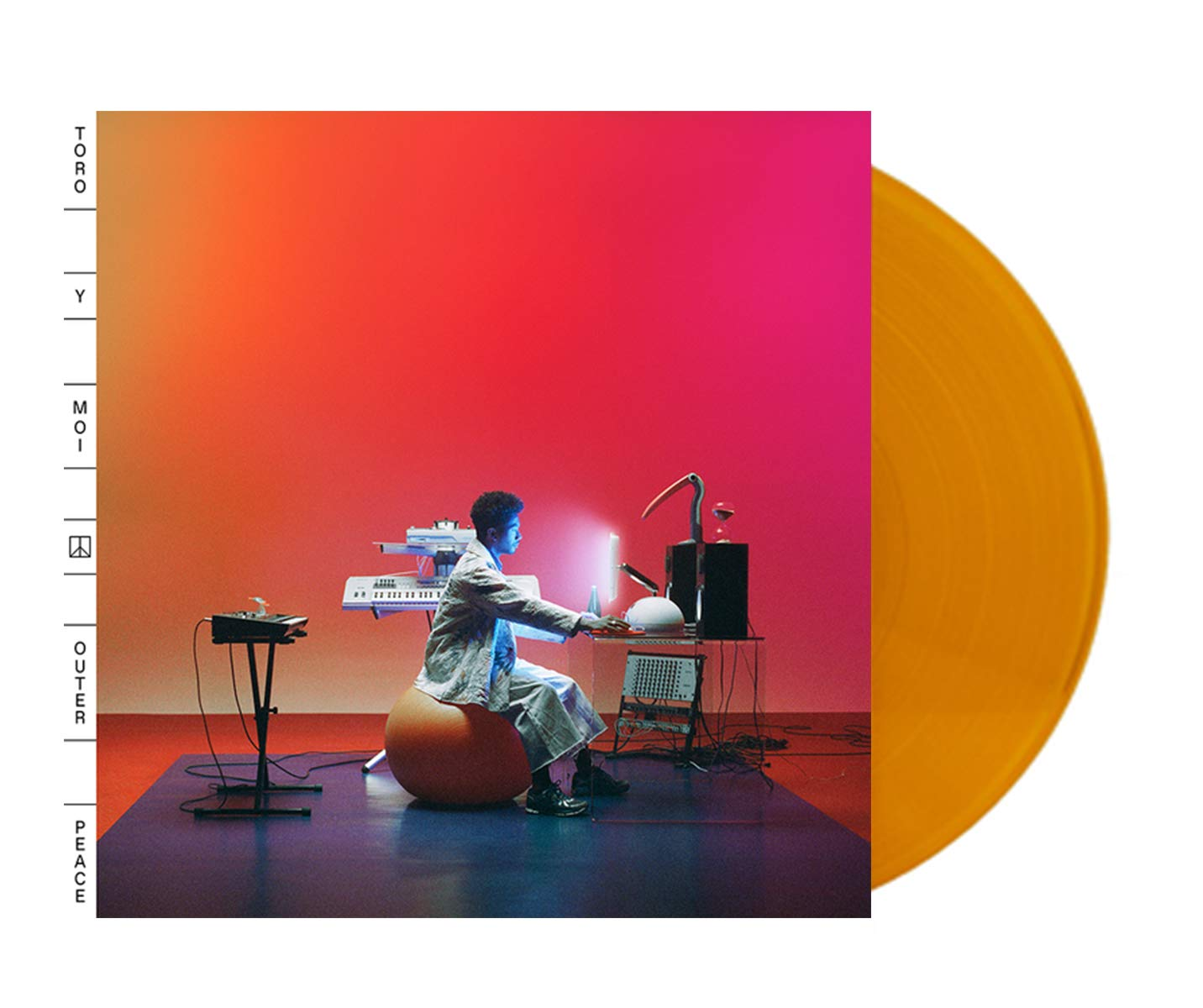 Toro Y Moi ‎- Outer Peace Exclusive Translucent Orange Vinyl LP (Limited to 300 Copies + Download) by Carpark Records