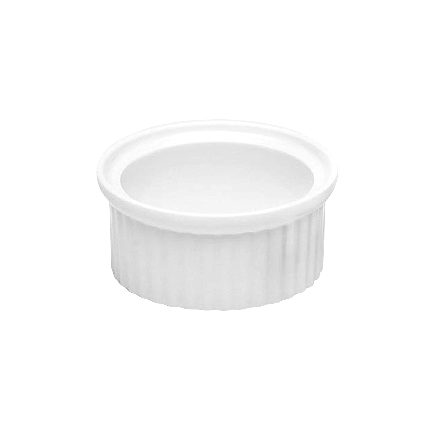 Pack of 6 Melamine Elite Global Solutions R1-B Ribbed Ramekin x 1 h 2 1//8 Dia Black
