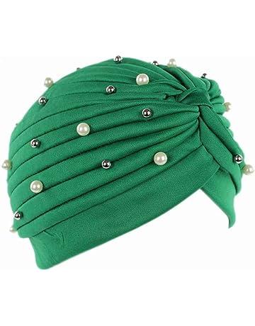 Bobury Mujeres Artificial Perla Turbante Sombrero Pérdida de Cabello Cáncer  Cabeza Pañuelos Quimioterapia Cap Sombreros b67829707cb