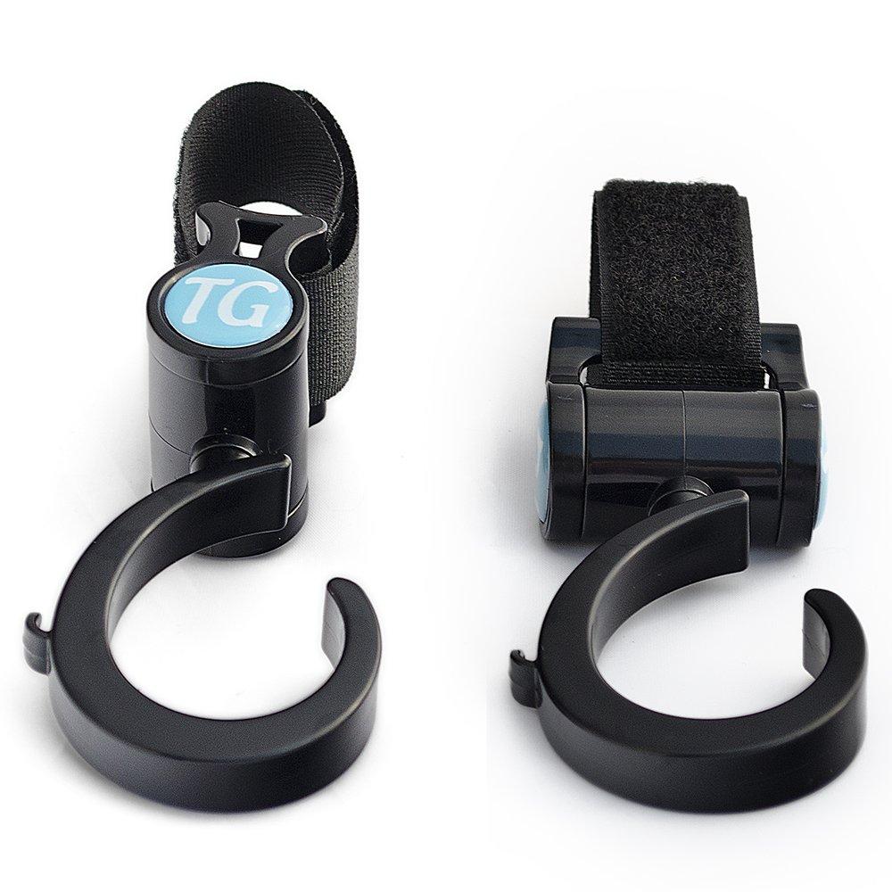 Top Glides Walker/Rollator/Wheelchair/Crutch Universal Multi-Purpose Hooks - Black - 1 Pair by Top Glides (Image #1)