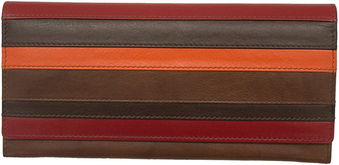 ili Leather 7305 Flap Wallet with RFID Lining