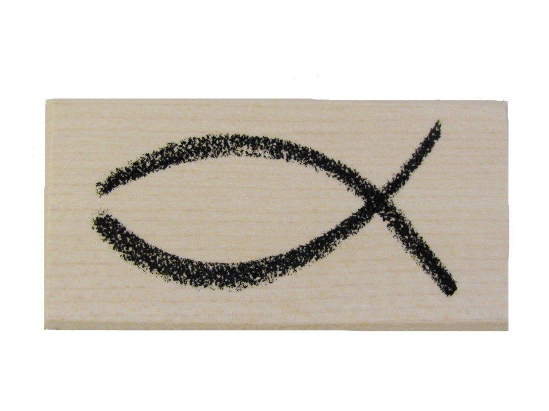 Hochzeit und mehr Firmung Stempel Fisch Kirchliches Motiv zur Taufe Kommunion