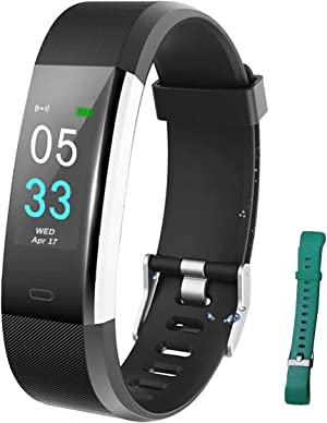 Fitness Tracker HR, Activity Tracker Watch with Heart Rate Monitor and connectable GPS , Waterproof Smart Fitness Band with Step Counter, Calorie Counter, Pedometer Watch for Women and Men(Two straps)