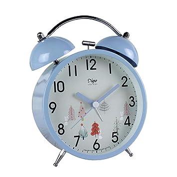 Amazon.com: JUSTUP - Reloj despertador de doble campana, 4 ...