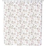 Uneekee Henna Baroque Shower Curtain: Large Waterproof Luxurious Bathroom Design Woven Fabric