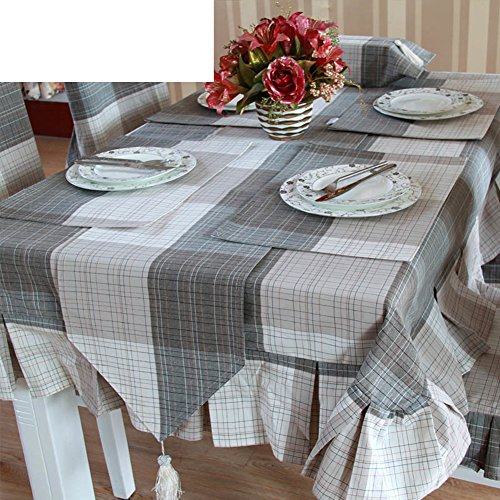 Continental Simple Plaid Waterproof Wallpaper,Table Cloth Waterproof Disposable Table Runner,Table Runner-Kit-A 33x240cm(13x94inch) - 240 Dining Set