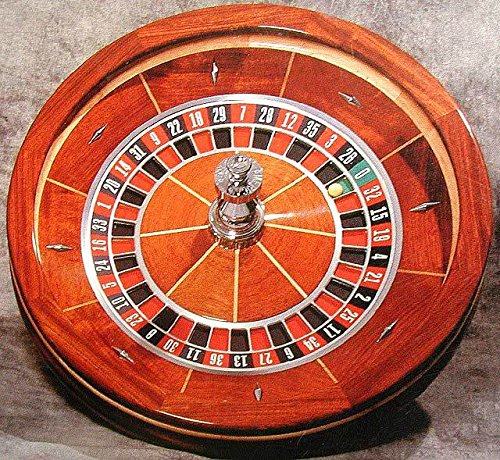 USA Gaming Wood Roulette Wheel, Professional Quality, 30