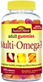 Nature Made Multi + Omega-3 Adult Gummies (60 mg of DHA & EPA per serving) Value Size 140 Ct
