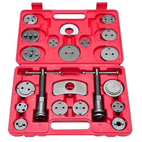 SUNROAD 21 pcs Universal Disc Brake Caliper Wind Back Tool Kit for Disk Brake Pad Replacement
